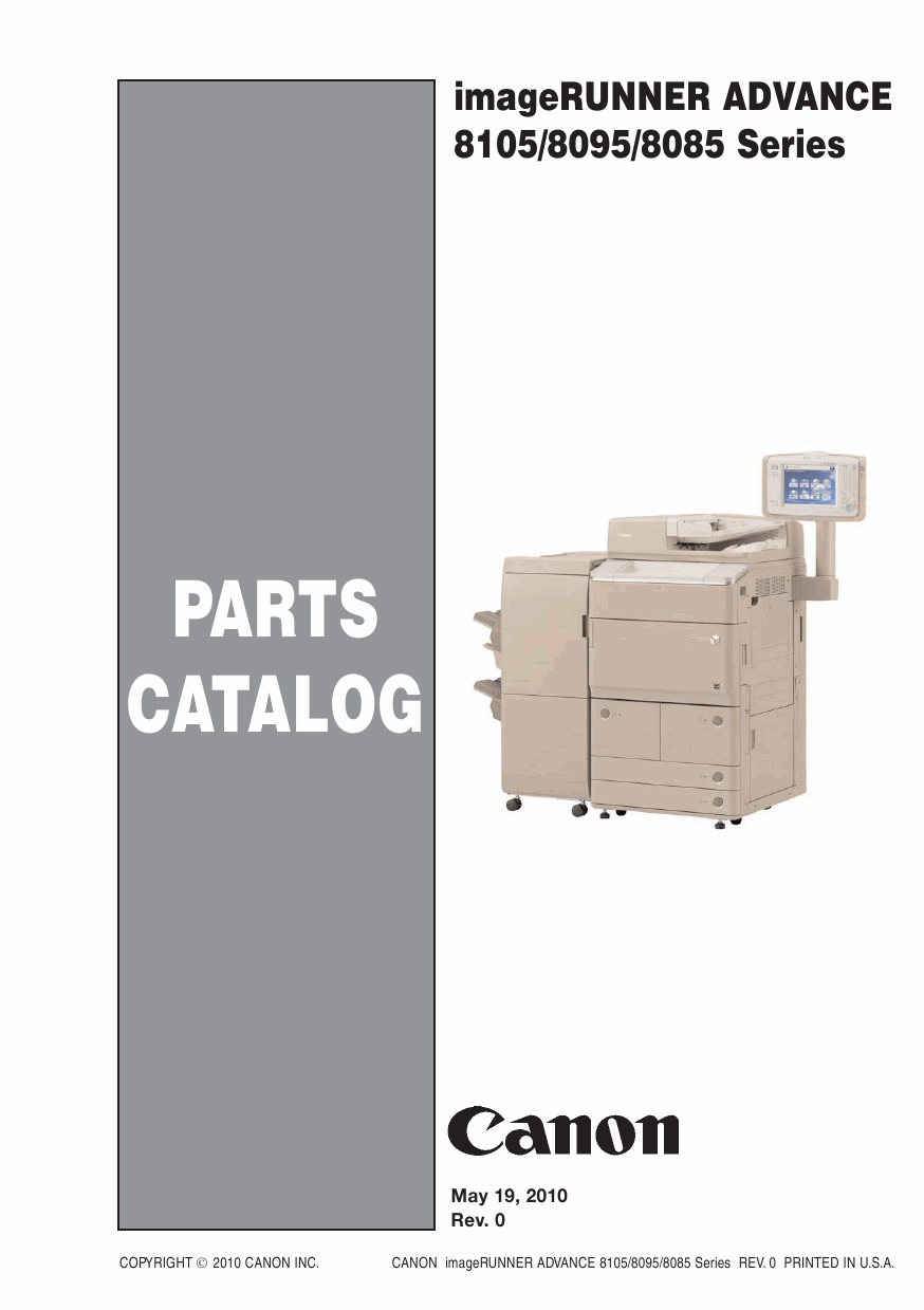 Canon imageRUNNER-ADVANCE-iR 8085 8095 8105Pro Parts Catalog-1